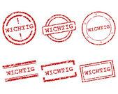 Wichtig stamps — Stock Vector