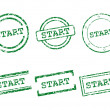 Stock Vector: Start stamps