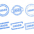 Share stamps — Stock Vector