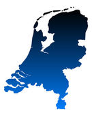 Map of the Netherlands — Stock Vector