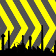 Industrial background — Vektorgrafik
