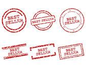 Best seller stamps — Stock Vector