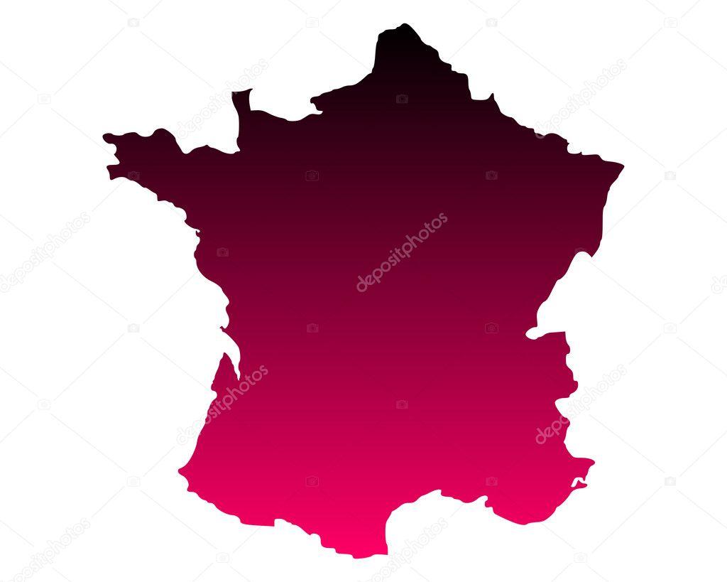 法国地图 — 图库矢量图像08