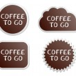 Coffee to go buttons — Stock Vector