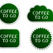 Stock Vector: Coffee to go buttons