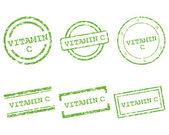 Vitamin C stamps — Stock Vector