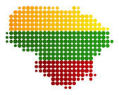 Map and flag of Lithuania — Stock Vector