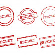 Secret stamps — Stock Vector