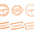 Stock Vector: Vitamin D stamps