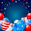 Stock Vector: Patriotic balloons border