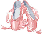 Zapatillas de ballet — Vector de stock