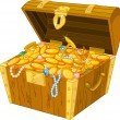Treasure chest - Vettoriali Stock