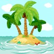 Desert island - Stock Vector