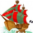 Vector de stock : Pirate Ship