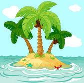 Desert island — Stock Vector