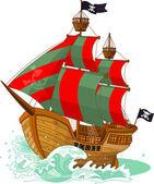 пиратский корабль — Cтоковый вектор