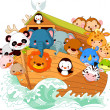 Noahs Ark — Vector de stock
