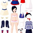 Paper doll with clothing — Stock Vector #11348847