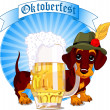 Royalty-Free Stock Vector Image: Oktoberfest dog