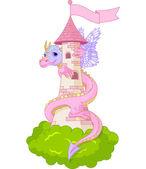 Torre de dragón — Vector de stock