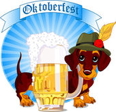 Oktoberfest dog — Stock Vector