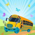 School Bus — Stock Vector