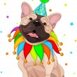 French bulldog's Birthday - Stock Vector