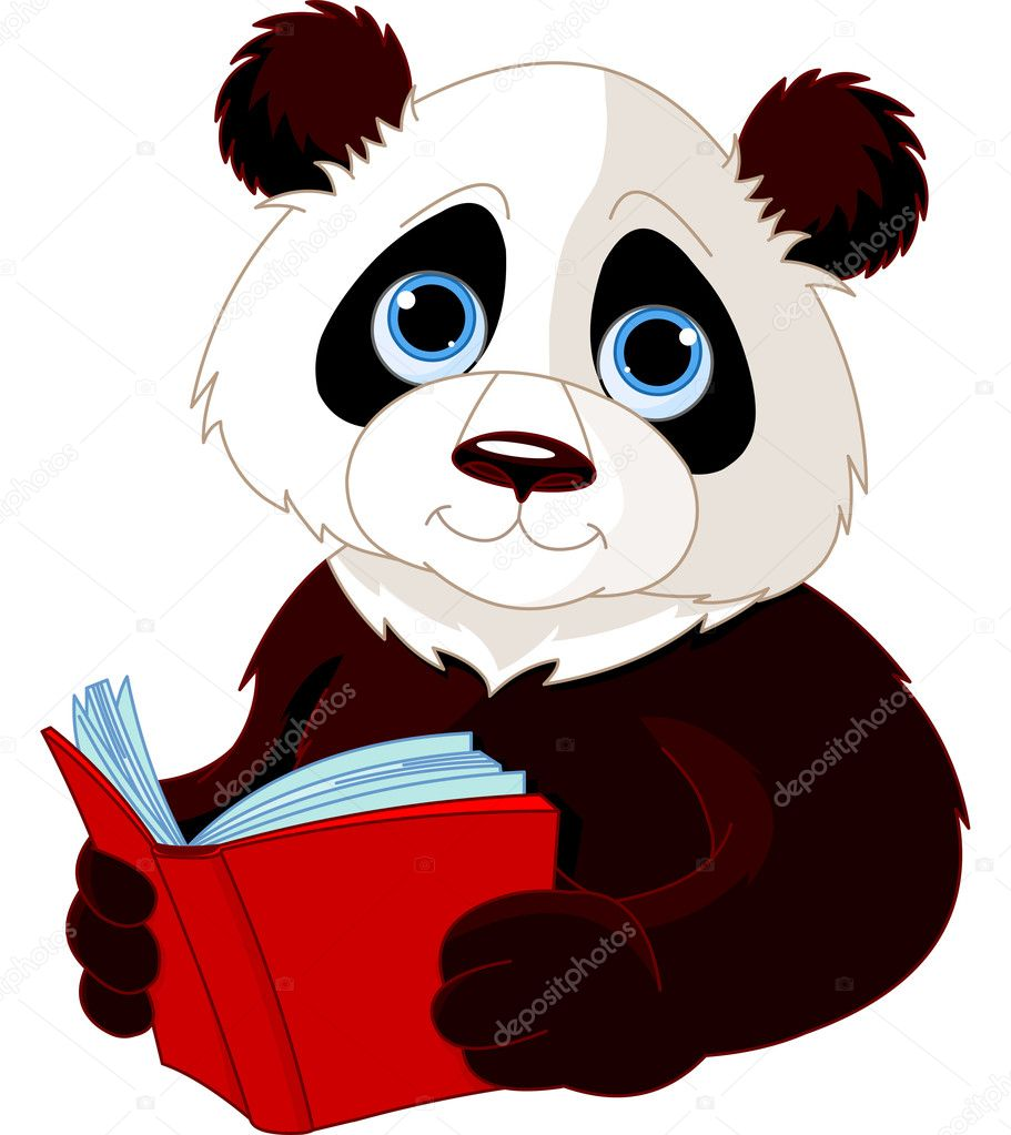 Cute Panda reading a book — Stock Vector #12010047
