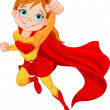 Super Girl - Stock Vector
