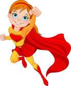 Süper kız — Stok Vektör