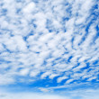 Cirrus clouds in blue sky. — Stock Photo