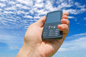 Cellular phones, supply, demand and service. — Stock Photo