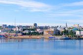 Cheboksary, overlooking the bay. — Stock Photo