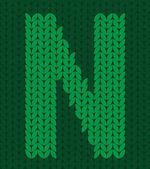 针织的字母 — 图库矢量图片