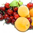 Fresh apricots and sweet cherries — Stock Photo #11063106
