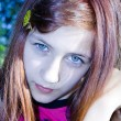Portrait teen girl in a rural garden — Stok fotoğraf