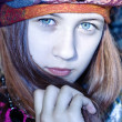 Nice young girl in a turban — Stock Photo
