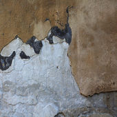Collapsing cement wall. The background for illustrations — Stock Photo