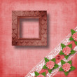 Abstract background with asters and lace for holiday invitations — Stock Photo