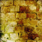 The background of the old masonry with traces of the former migh — Stock Photo