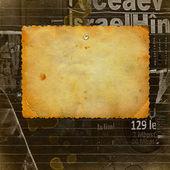 Gamla vykort för gratulationen eller inbjudan på abstrakt ba — Stockfoto