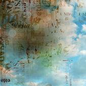 Grunge abstracte achtergrond met oude gescheurde affiches met vervagen boke — Stockfoto