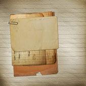 старый архив с буквами, фотографии на абстрактный гранж му — Стоковое фото