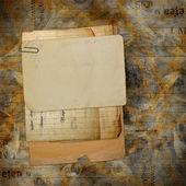 Stare archiwum z listy, zdjęcia na backgrou streszczenie grunge — Zdjęcie stockowe