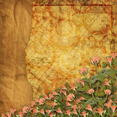 отчужденный справочный документ используется для объявления с роуз — Стоковое фото