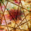 Grunge abstract background with old torn posters with blur text — Stockfoto