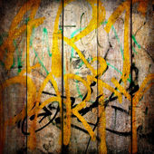 Plain text in style of graffiti on the old plastered wall — ストック写真