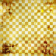 Vintage abstract background with chequered chess ornament — Stock Photo #12166607