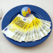 Monetary meal — Stock Photo