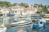 Barcos no mar adriático — Foto Stock